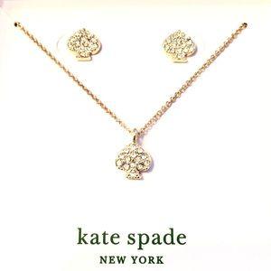 Kate Spade Pendant & Studs
